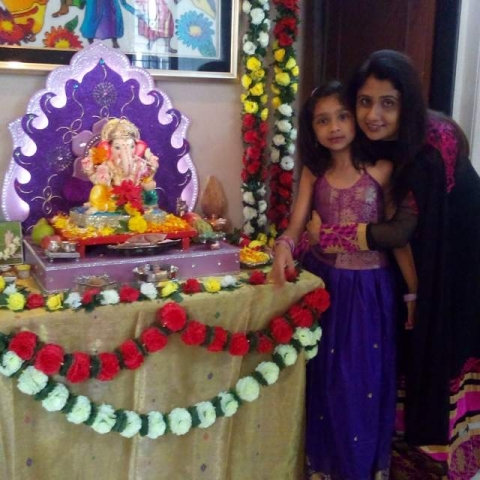 Heena\'s house has Peswa Ganesh