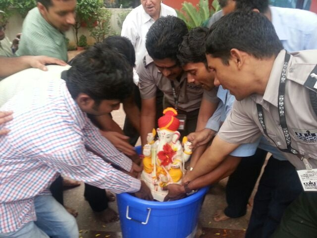 ecoganesha and bucket visarjan