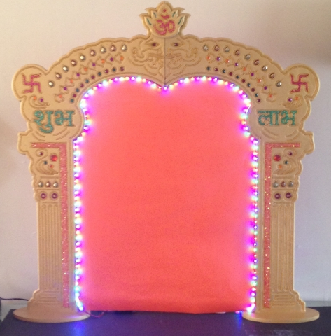Lord Ganesh\'s temple Makhar Decoration