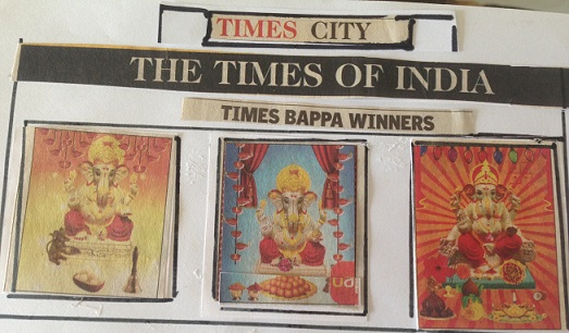 Our Ganesha idol is winner Times of India mobile contest